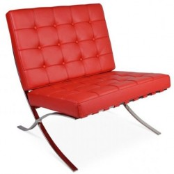 Chaise Barcelona Rouge - Premium